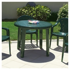 Atlin Designs 35 5 Round Resin Patio Dining Table In Green Real Canadian Superstore