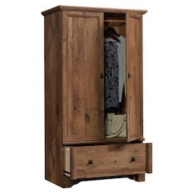 Sauder Palladia Contemporary Wood Bedroom Armoire With Garment Rod Vintage Oak Loblaws